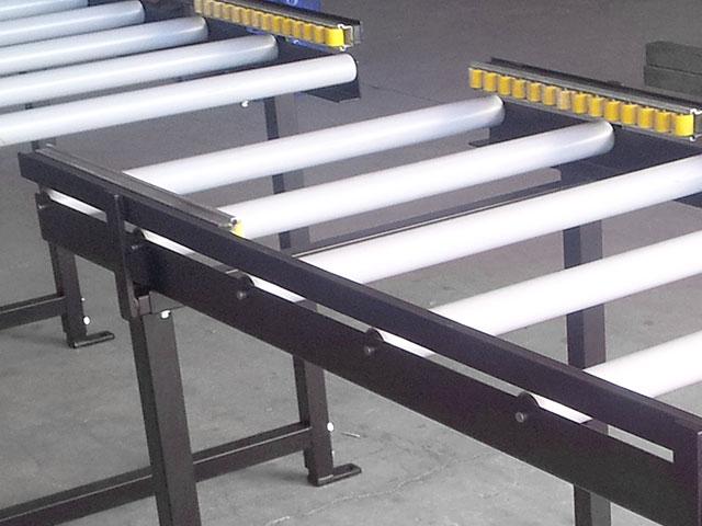 Transportador de rodillo por gravedad detalle carriles